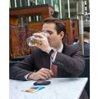 Chris Bodnar enjoys a drink on the Earl's Kitchen and Bar patio in Toronto