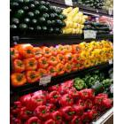 Vegetable department in a grocery store