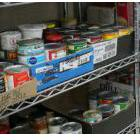 Foodshelves in a food bank