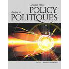 Cover of Canadian Public Policy