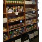 Shelves in a food bank