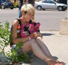 Hailey Eldershaw, a panhandler in downtown Charlottetown