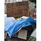 Protest signs from Occupy Vancouver demonstration in 2011