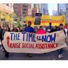 Banner reading: The Time is Now | Raise Social Assistance