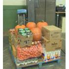 Fresh food being packaged at The Daily Bread Food Bank