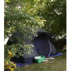 Tents are pitched at Riverside Park on Tuesday July 9, 2019 in Peterborough