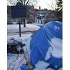 The last remaining tent on the property at St. John's Anglican Church on Brock Street in Peterborough