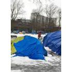 Tents in Oppenheimer Park