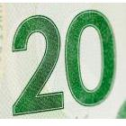 Portion of a $20 bill