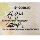 Signature lines on a $2000 CERB cheque