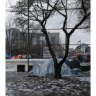 Homeless encampment in Oppenheimer Park