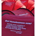 Red tents emblazoned with