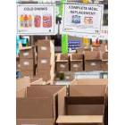 Boxes wait to be filled with provisions at The Daily Bread Food Bank warehouse in Toronto