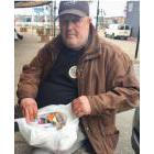 Raymond Marshall shows the many medications he's taking while living homeless in Halifax