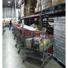 Inside a food bank, that is to say, a warehouse, not a food pantry