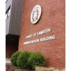 Lambton County council's administration building in Wyoming